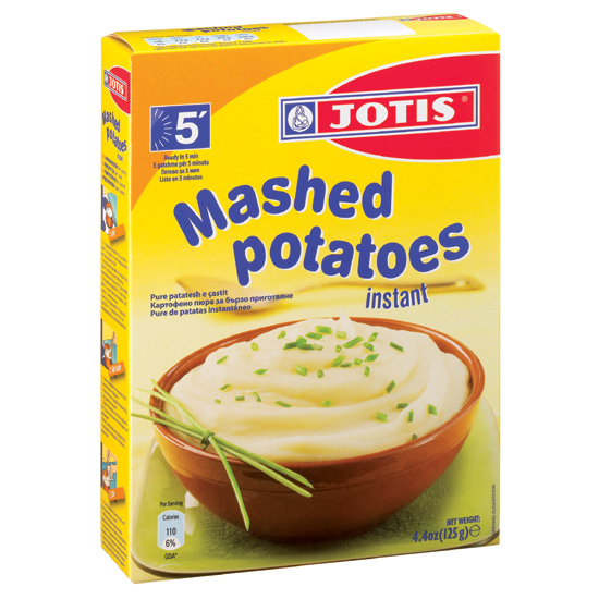 jotis mashed potatoes mixture in paper box aegean food exports